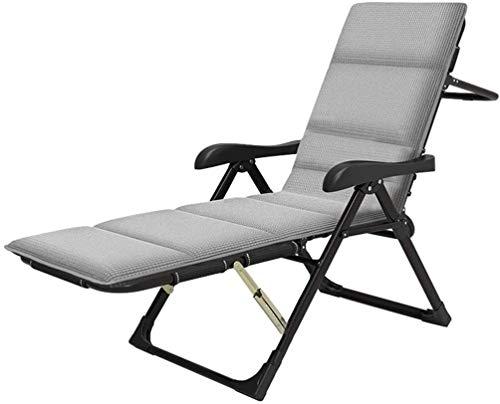 PARTAS Productos for el hogar de jardín plegable Salón sillas de camping cuna asiento reclinable acolchado completo Pesca cama Sillas Altas Prestaciones silla de jardín Tumbona reclinable con cojín Ap
