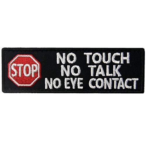 Service Dog No Touch No Talk Warning Vests/Harnesses Patch Embroidered Badge Fastener Hook & Loop Emblem