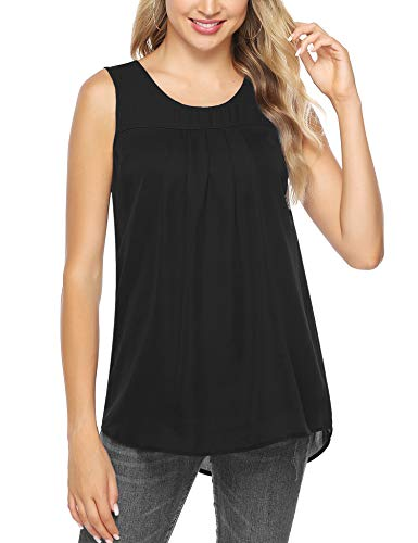 Aibrou Mujer Camisola de Verano Cami Tank Tops Dama Color Solido Correa Suelta Columpios con Volantes Blusa Camiseta sin Mangas
