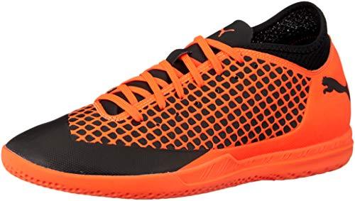 Puma Herren Future 2.4 IT Fußballschuhe, Schwarz Black-Shocking Orange 02, 44.5 EU