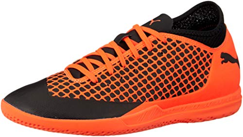 Puma Future 2.4 IT, Herren Fußballschuhe, Schwarz (PUMA Black-Shocking ORANGE 02), 42.5 EU (8.5 UK)