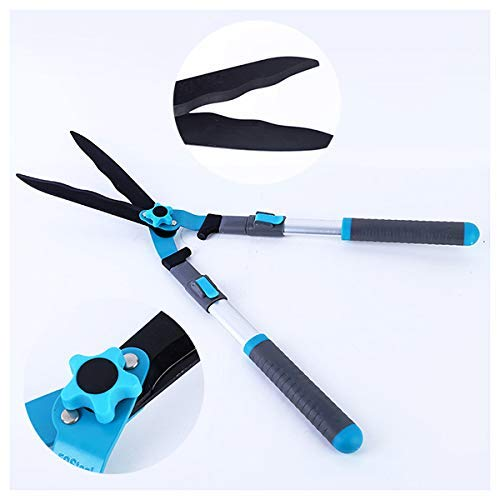 Telescopic Hedge Shears, Lightweight Gardening Trimmer, Comfort Hand Grip Long Strong Pruning Tool Less Effort Super Sharp Easy Cut Best for Hedge Plants
