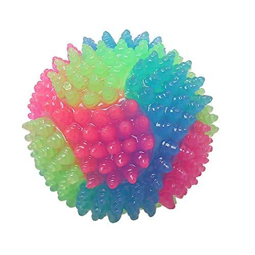 longrep Hundeball LED Blinkende Hüpfball Hundespielzeug Backenzahn Farbe Farbe Licht Licht Ball Geeignet Für Katze Und Hund Interaktive Spielzeuge