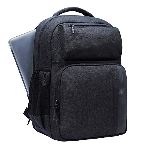 MIER 2 in 1 Insulated Cooler Backpack with Laptop Compartment for Men and Women, 25 Cans Leakproof to Work, Business Trip, School, Camping, Picnic, Black