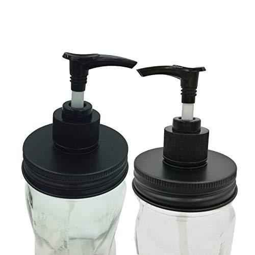 2 Rust Resistant Soap Pump Dispenser Lids Rings Cap for Regular Mouth Mason Jar