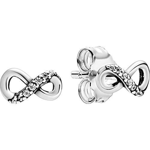Pandora Pendientes de botón Mujer Plata esterlina No aplicable - 298820C01
