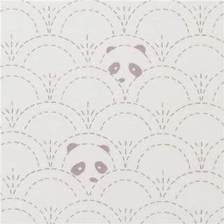 spandex, knit fabric with pandas, by Art Gallery Fabrics, Collection: Pandalicious, Design: Katarina Roccella (per 0.5 yard unit)