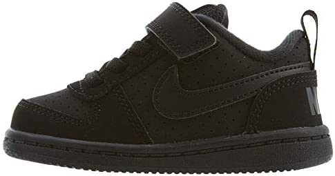 Nike Court Borough Low (TDV), Zapatillas de Gimnasia, Negro (Black/Black 001), 22 EU