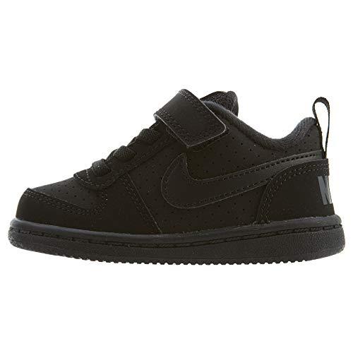 Nike Unisex-Kinder Court Borough Low (TDV) Basketballschuhe, Schwarz Black 001, 25 EU