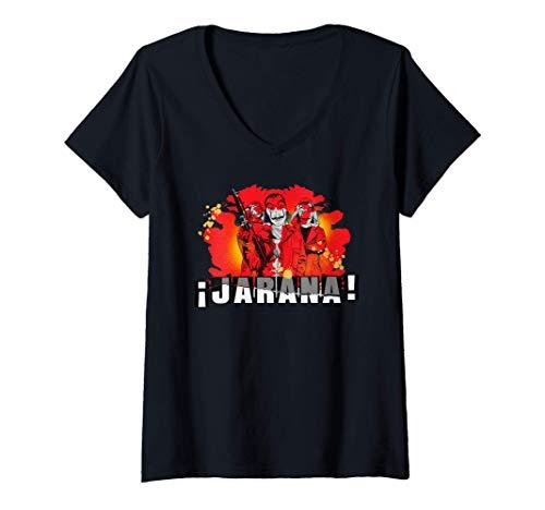 Mujer Netflix La Casa De Papel Jarana Group Camiseta Cuello V