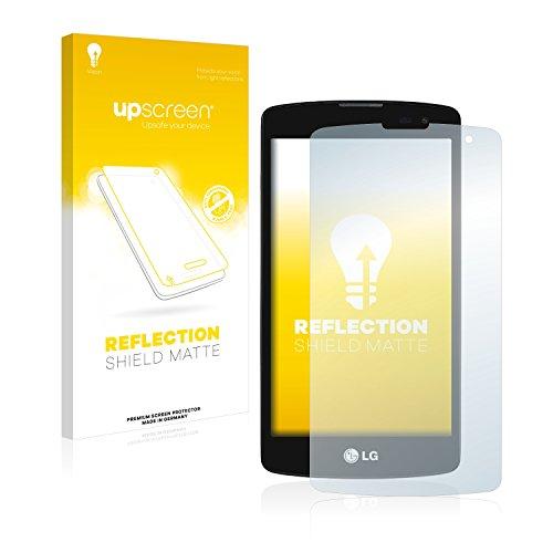 upscreen Entspiegelungs-Schutzfolie kompatibel mit LG L Fino D295 – Anti-Reflex Bildschirmschutz-Folie Matt
