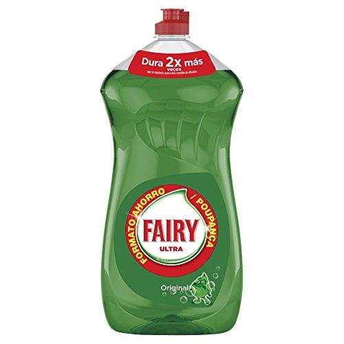 Fairy Ultra, Líquido lavavajillas verde oscuro sin remojo ni grasa 1410 ml