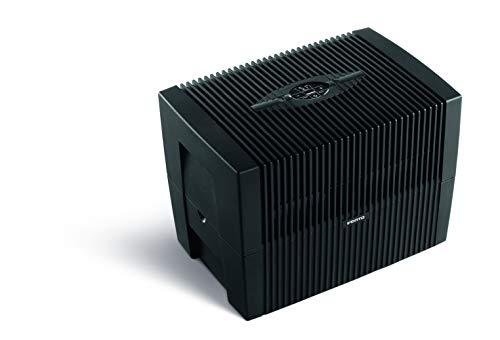 Venta Luftwäscher Comfort Plus LW45, Luftbefeuchtung und Luftreinigung (bis 10 µm Partikel) für Räume bis 60 qm, Brillantschwarz, mit digitaler Steuerung