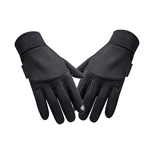 FIgures Running Gloves Winter Warm Full Finger Cycling Gloves Touch Screen Sport Mountain Road Bike Bicycle Working Riding Gloves Non-Slip Waterproof, XL