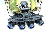 FMA Dummy Devgru GPNVG-18 DE (Tierra Oscura) para casco de exhibición Airsoft Cosplay (negro)