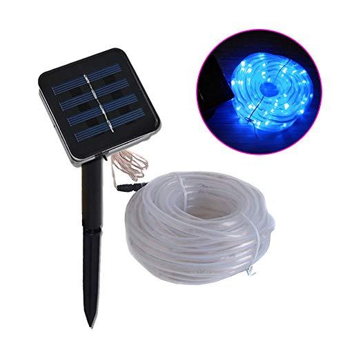 Solar Light-50/100M Outdoor Waterproof Solar LED Light Garden Light LED Rope Light Solar String Light Solar Fairy Light (Blue)