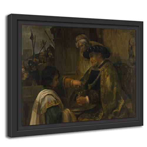 Printed Paintings Marco Americano (80x60cm): Estilo de Rembrandt - Pilato se lavó Las Manos