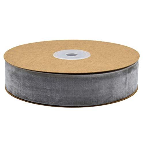 HEALLILY 1 Rouleau de Papier Cadeau Ruban Vêtements Ruban Tissu Ruban Bande pour Emballage Cadeau Décoration de Fête Danniversaire (2. 5 Cm Gris)