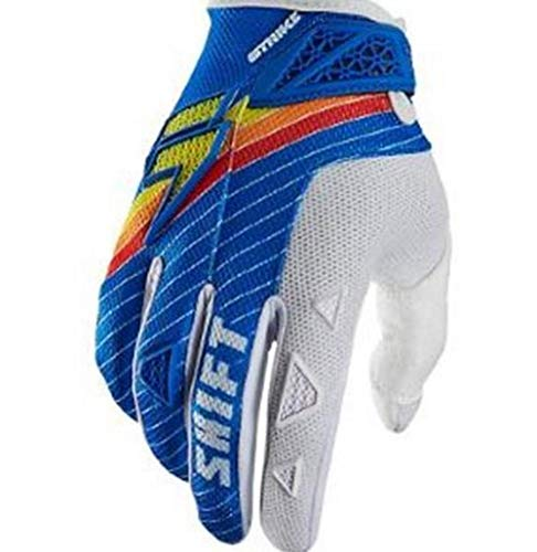 Shift Racing Strike Stripes Men's Off-Road Motorcycle Gloves - Blue / 2X-Large