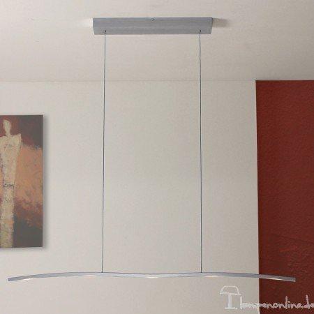 Bopp Leuchten - LED-Pendelleuchte Onda 5-flammig - Alu geschliffen, mit LED, mit LED (2700K)