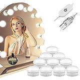LED Spiegelleuchte, Winzwon Hollywood-Stil Schminktisch Beleuchtung Schminklicht Spiegellampe Make-up Lampe Schminktisch Spiegel Lichter Set für Kosmetikspiegel(Spiegel Nicht Inbegriffen)