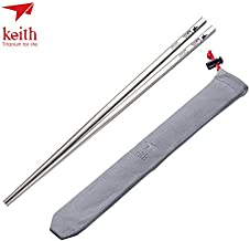 Keith Titanium Ti5633 Solid Square Handle Chopsticks