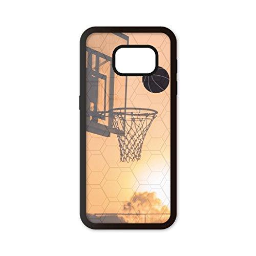 Funda móvil Compatible con Samsung Galaxy S7 Edge Baloncesto Canasta. Carcasa de TPUde Alta protección. Funda Antideslizante, Anti choques y caídas.