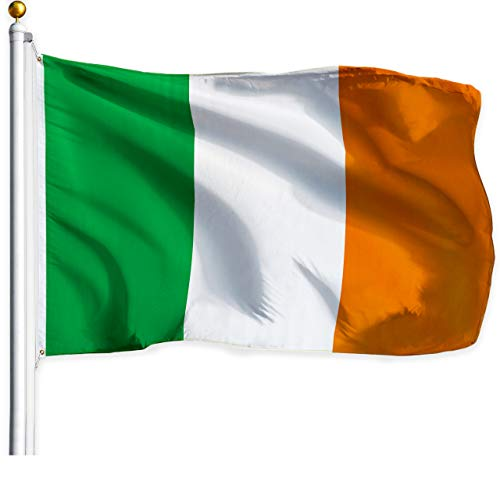 G128 – Irish Flag | 3x5 feet | Printed – Vibrant Colors, Brass Grommets, Quality Polyester, Ireland