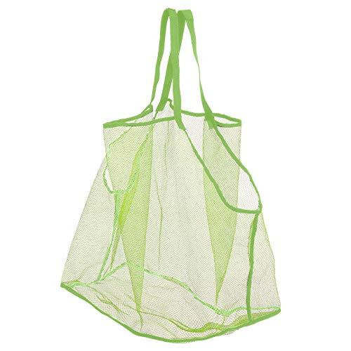IILOOK KinderFalt-Tasche Aufbewahrungsnetz Sandspielzeug Netztasche Große Strandtasche Grün Aufbewahrungstasche Wiederverwendbare Faltbare für Wasserspielzeug Urlaub Aufbewahrungs-Organizer