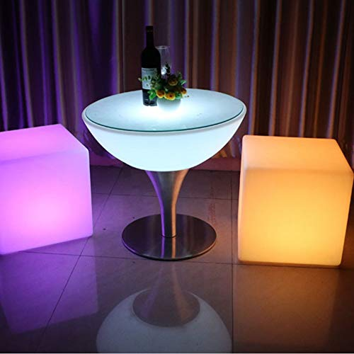 BOCMD GeschenkLed Seite Hocker Lampe Cube Outdoor Lights 50cm Lampe Möbel Kreative Bar Hocker Fernbedienung Bunte stolperbar
