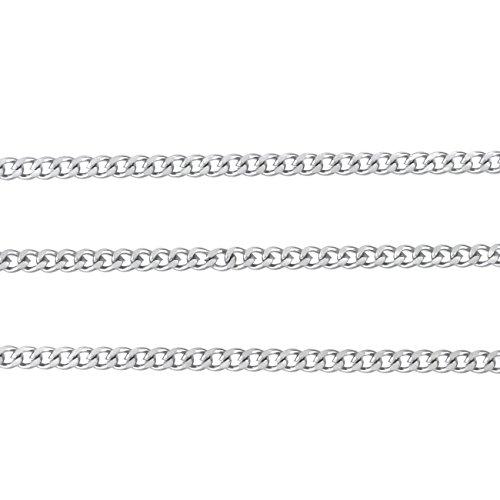 ジナブリング (JINA BRING) ステンレスチェーン サージカルステンレスSUS304 喜平 ネックレス チェーン シルバー2mm 80cm