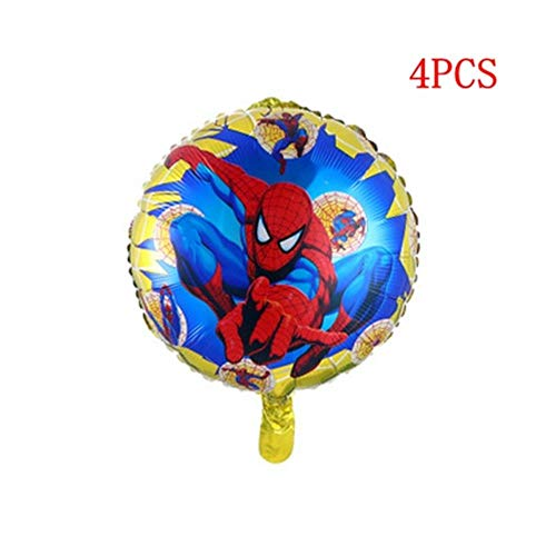 chenn Party Supplies Napkin Set Bowl Tablecloth Cup Knife Fork Spoon Spiderman Birthday Party Decoration Children,4pcs
