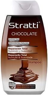 Stratti Chocolate y Keratina - Champú Reparación Total sin Sal - 400 ml