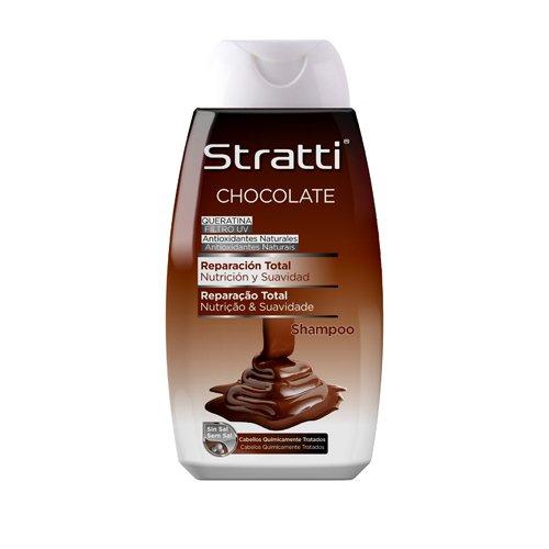 stratti Schokolade und Keratin–Shampoo Reparatur Total, ohne Salz–400ml