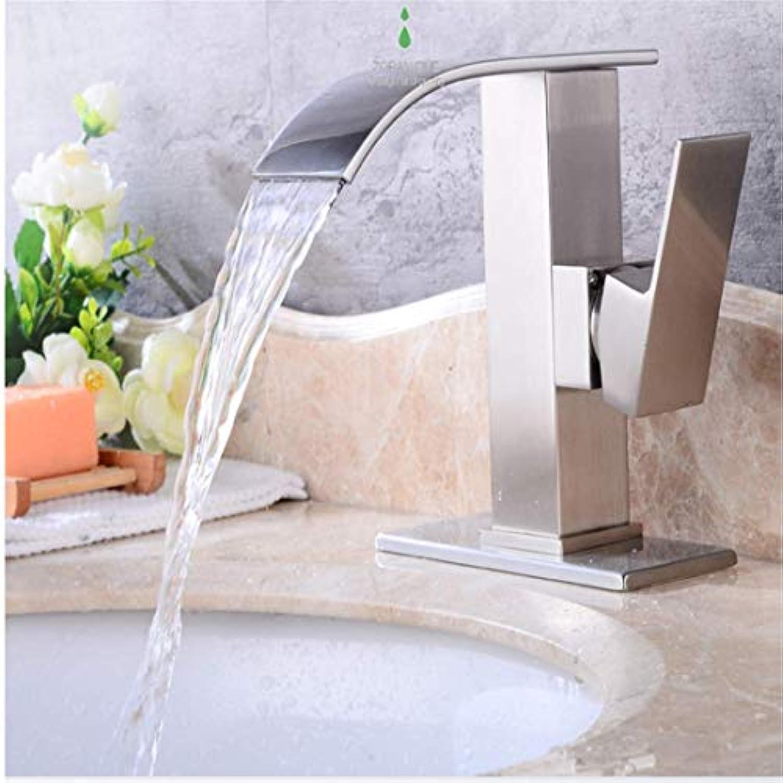 Retro Plattiert Hei Und Kalt Wasserhahn Wasserhahnarmaturen Nickel Gebürstet Einhand-Einlochmontage