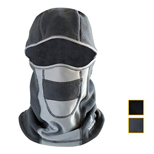 vicnunu Ski Mask Winter Windproof Warm Face Balaclava Mask for Men Thermal Fleece(Grey) …