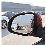 Espejo de punto ciego Las PC 1 del lado del coche del vehículo punto ciego espejo 360 Ronda de gran angular espejo convexo Ancho automático del espejo retrovisor redondo Pequeña Espejo de seguridad de