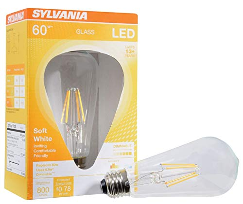 Price comparison product image SYLVANIA General Lighting 74589 Sylvania Filament LED Bulb,  Clear Finish