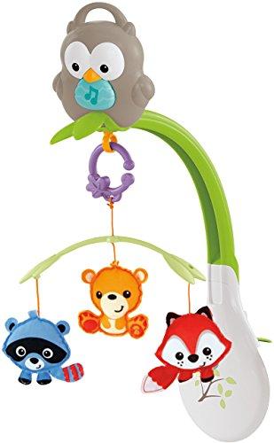 Fisher-Price Mobile Musical 3-en-1 pour lit bébé, jouet transportable et hibou détachable, dès la naissance, CDM84