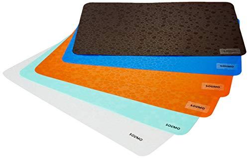 Amazon Brand - Solimo PVC Fridge Multipurpose Mat, Diamonds, Set of 6, Multi