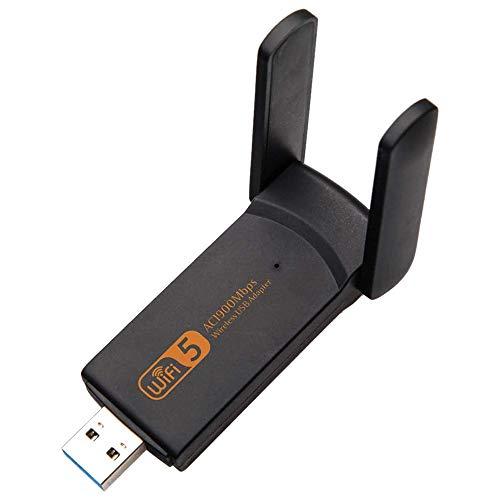 Tamkyo Adaptador WiFi USB 3.0 1900Mbps Banda Dual 2.4G / 5G Tarjeta de Red InaláMbrica InaláMbrica Dongle WiFi para Computadora Laptop/Escritorio/PC