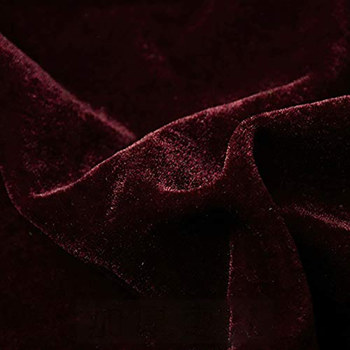 MUYUNXI Tela De Terciopelo Suave para Coser De Chaquetas Decoración Decoración del Hogar Cortinas Tapicería Vestido Sillas 160 Cm De Ancho Vendido por Metro(Color:Color Rojo dátiles)