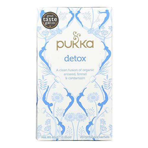 Pukka Herbs Organic Herbal Teas from England Detox Aniseed Fennel & Cardamom