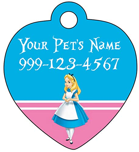Alice Custom Pet Id Tag for Dogs & Cats Personalized w/ Name & Number