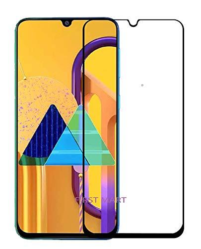 Trimanav Full Glue Edge -To- Edge Tempered glass Screen Protector For Samsung Galaxy M30s. (Anti-Fingerprint,Bubble Proof With 9H Hardness).