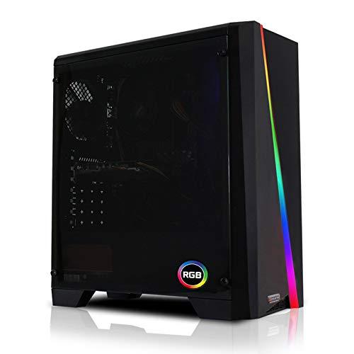dcl24de 13243 Gaming PC Cylon RGB Intel i5 9600KF 6x46 GHz Turbo 240GB SSD 1TB HDD 16GB DDR4 RX5500XT 4GB WLAN Windows 10 Pro Spiele Computer Rechner