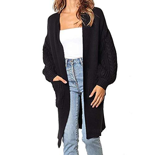 Suéter de Moda Mujer Punto Color sólido de Manga Larga Abrigo Elegante...