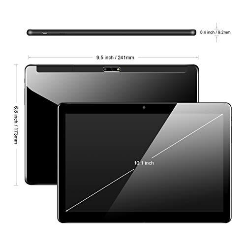 Tablet 10 Zoll Android Tablet PC mit Dual Simkarten Slot Padgene 1280x800 Quad Core CPU Google Tablet PC Dual Kamera WiFi/3G Bluetooth GPS Telefonfunktion(Glas Bildschirm 2GB/32GB Schwarz)