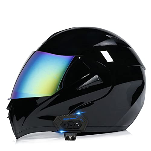 Casco de Motocross,Cascos Abierto Integrales Modular Casco de Moto de Cara Completa MTB Motocicleta para Adultos Casco de Choque Todoterreno,D,L