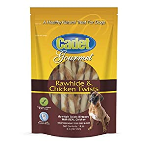 Cadet Gourmet Healthy Rawhide Flavored Twist Treats for Dogs